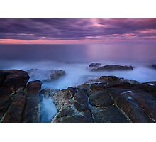 Misty Rocks Photographic Print