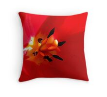 The Heart Of The Tulip Throw Pillow