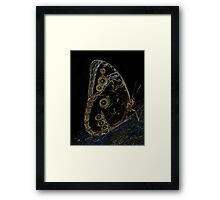 Neon Butterfly Framed Print