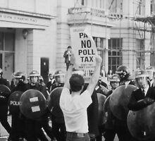 Poll Tax protestor, London by David Fowler