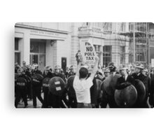 Poll Tax protestor, London Canvas Print