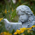 Garden Statue - Girl Reading Book by Zunazet