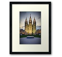 An Evening at Temple Square - 4 Framed Print