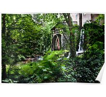 Falls Mill Water Wheel - Belvidere Tennessee Poster