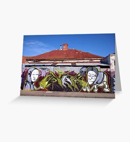 Corrugated Street Art Greeting Card