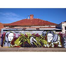 Corrugated Street Art Photographic Print