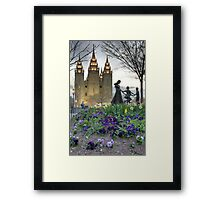 An Evening at Temple Square - 5 Framed Print