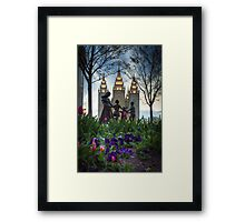 An Evening at Temple Square - 6 Framed Print
