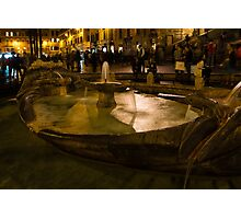 Oasis of Calm Water in the Middle of the Hustle and Bustle of the Piazza Photographic Print