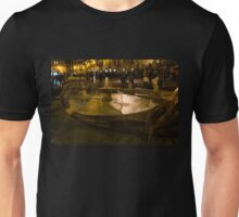 Oasis of Calm Water in the Middle of the Hustle and Bustle of the Piazza Unisex T-Shirt