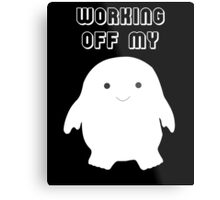 Doctor Who Working Off My Adipose  Metal Print