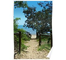 Pathway to the beach Poster