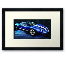 Aurora Blue Framed Print