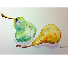Green and yellow pears Photographic Print