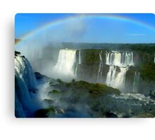 rainbow at Iguassu Falls Canvas Print