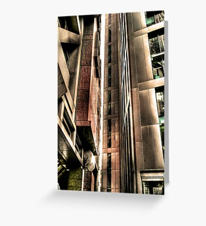 Steel Lines (HDR) Greeting Card