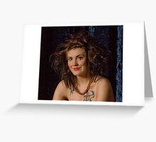 Clownish make up & hair Greeting Card