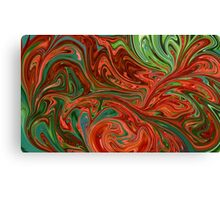 Colorful swirls Canvas Print