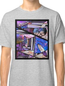 Stain Glass Image Collage Classic T-Shirt