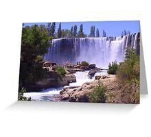 Chile, Salto El Laja, Water Springs Greeting Card