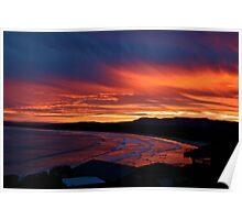 Gerroa sunset Poster