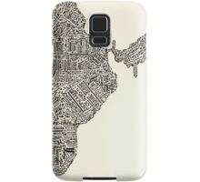Lettering map of India Samsung Galaxy Case/Skin