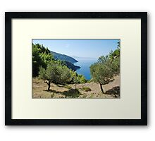 Alonissos coastline, Greece Framed Print
