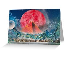 PYRAMID MOON Greeting Card