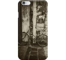 Old bicycle on the street iPhone Case/Skin