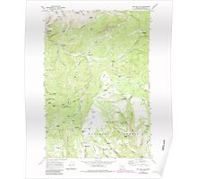 USGS Topo Map Oregon Big Rock Flat 279032 1969 24000 Poster