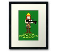 Firefly 8 Bit Thrilling Heroics Framed Print