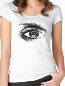 The pain through my eye Women's Fitted Scoop T-Shirt