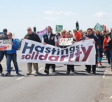 Austerity protest march, Hastings by David Fowler