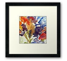 Abstract of Irises Framed Print