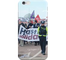 Anti austerity protest, Hastings iPhone Case/Skin