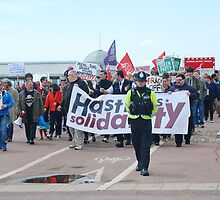 Anti austerity protest, Hastings by David Fowler