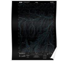 USGS Topo Map Oregon Nye 20110811 TM Inverted Poster