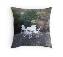 A quiet spot to reflect on the beauty around you Throw Pillow