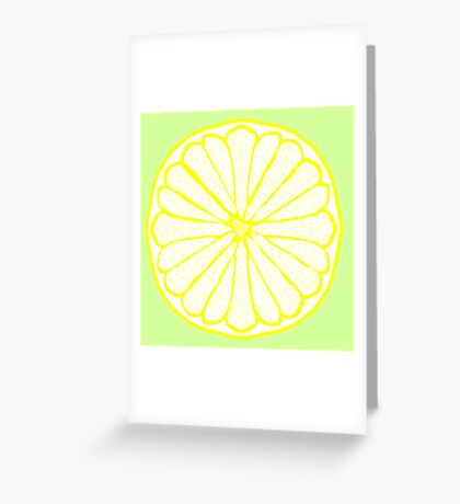 Lovely Lemon on Lime Greeting Card