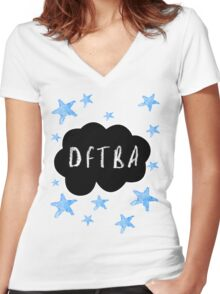 DFTBA: The Fault In Our Stars Women's Fitted V-Neck T-Shirt