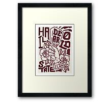 Hail State! - Maroon and Ivory Framed Print