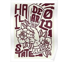 Hail State! - Maroon and Ivory Poster