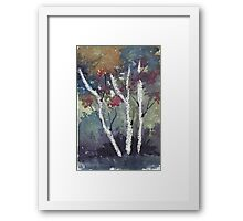 The dark forest  Framed Print