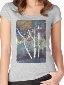 The dark forest  Women's Fitted Scoop T-Shirt