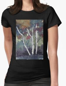 The dark forest  Womens Fitted T-Shirt