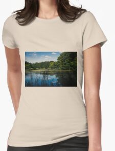 Blue Reflection Lake Womens Fitted T-Shirt