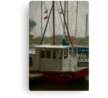 Red, White, and Blue Boats Canvas Print