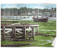 Southampton Northam river Itchen mudflats Poster