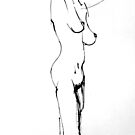 Standing Female Nude by Victoria limerick