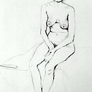 Nude Woman Sitting  by Victoria limerick